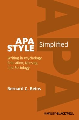 This is a compact but comprehensive guide to writing clearly and effectively in APA style. Demonstrates how to write objective scientific research papers using interesting prose Incorporates guidelines from the 6 th edition of the APA publication manual Explores how to develop ideas, connect them to what others have written, and express them clearly Discusses the differences between written, oral, and poster presentations and offers instructions for applying APA style to each one.
