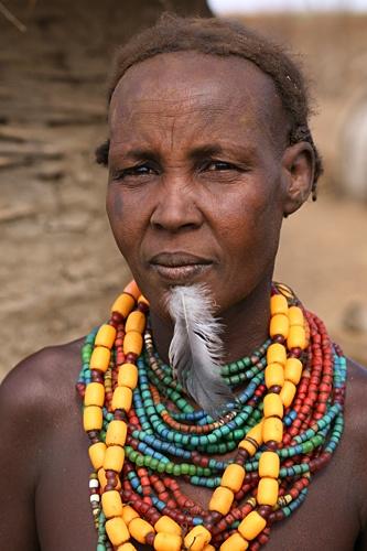 Africa |  Dassanech woman photographed in Omorate, Ethiopia | © Lars-Gunnar Svärd