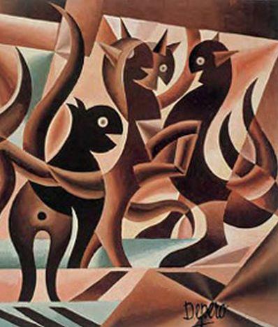 Fortunato Depero, 1939-41, Elasticita'di Gatti