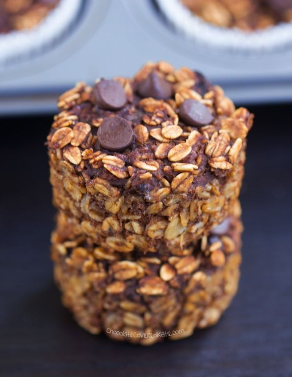 Chocolate Breakfast Oatmeal Cupcakes – To Go