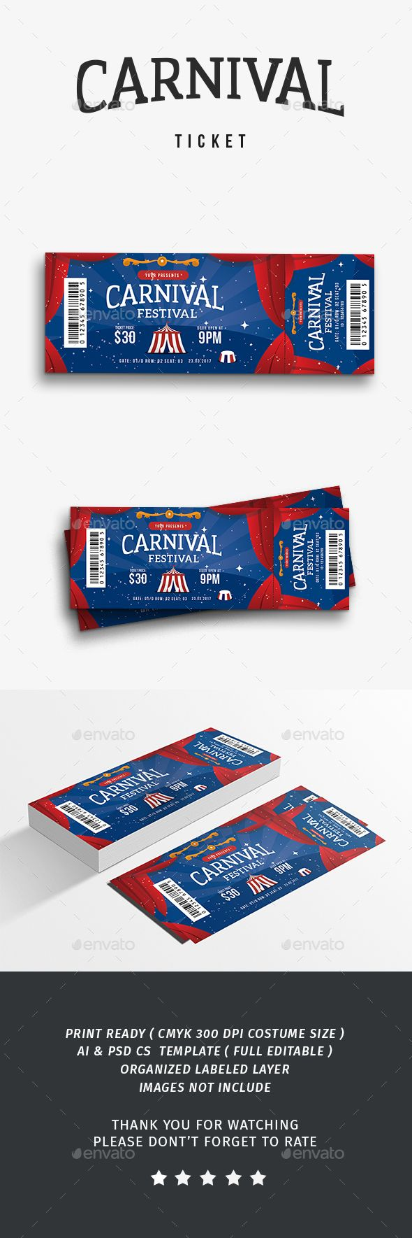 Carnival Event Ticket