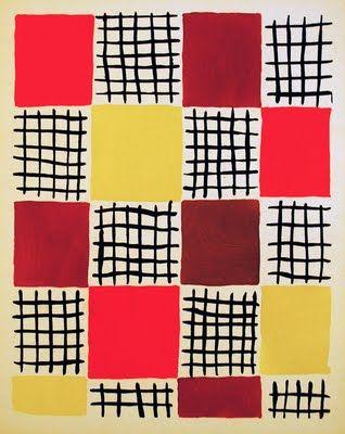 Lignes horizontales et verticale et découpage de carrés