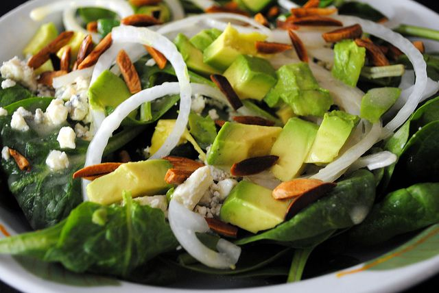Avocado, Blue Cheese & Spinach Salad: Spinach Salad