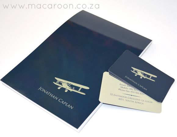 Create Personalised Notepads and business or simple Contact Cards - A classic and usefull gift any man would love. Order online, www.macaroon.co.za