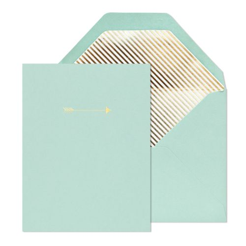 Gild and Grace: Notecard Sets, Note Sets, Arrows Tattoo, Mint Gold, Gold Foil, Arrows Notecard, Sugar Paper, Arrows Noteset, Gold Arrows