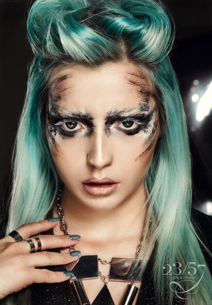 Blue hair,portrai,creative photo,make up, blue, makeup,girl, beauty photot