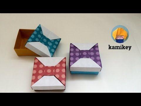【折り紙】 リボンの箱2 Origami Bow Box 2 - YouTube