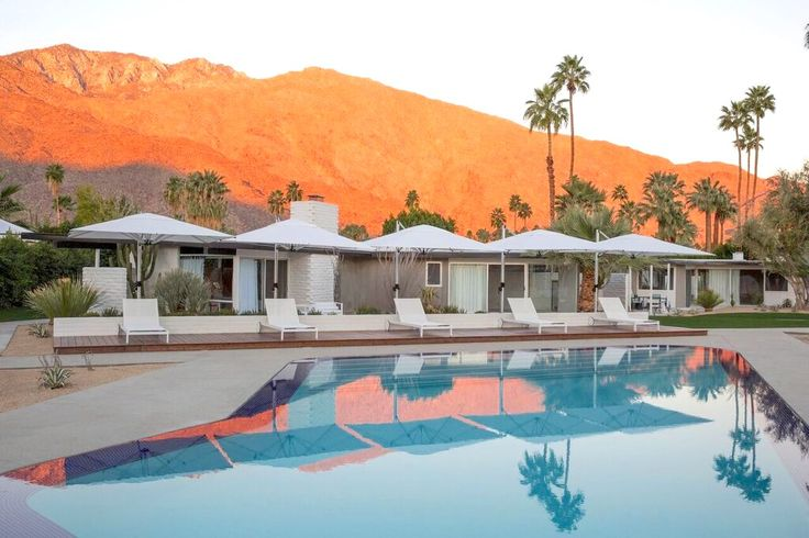 Amazing view of the #pool at the newly restored and renovated L'Horizon #hotel in Palm Springs
