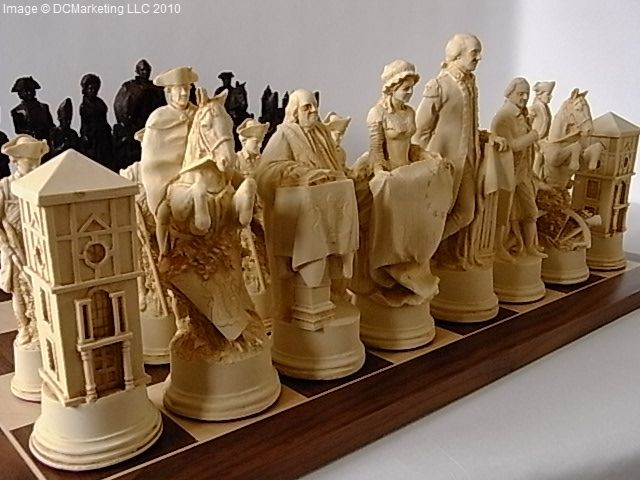 Revolutionary War Chess Set Wow The Size And The Detail