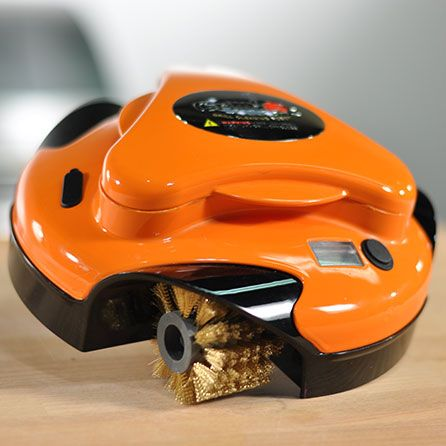 Check out this Grillbot! The BBQ cleaning robot!