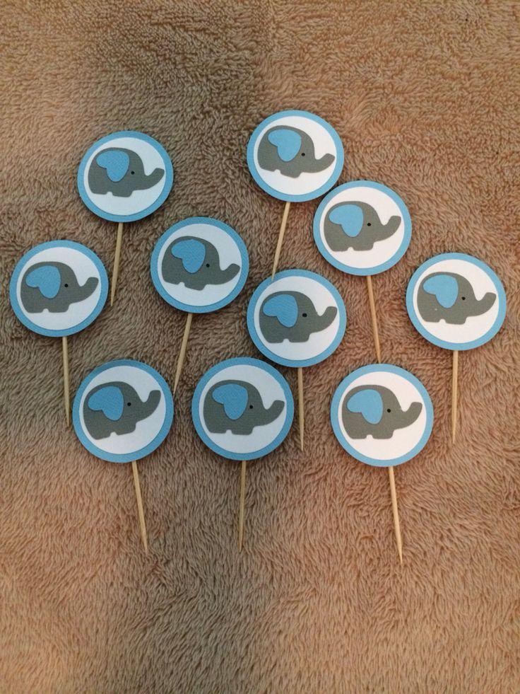 Photo (64) cupcake toppers de elefantes by Denise Scraps