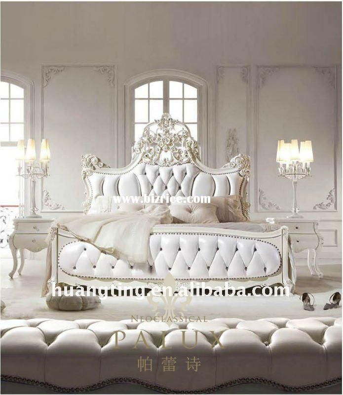 Wood bedroom set home furniture fancy bedroom set french for Master bed furniture