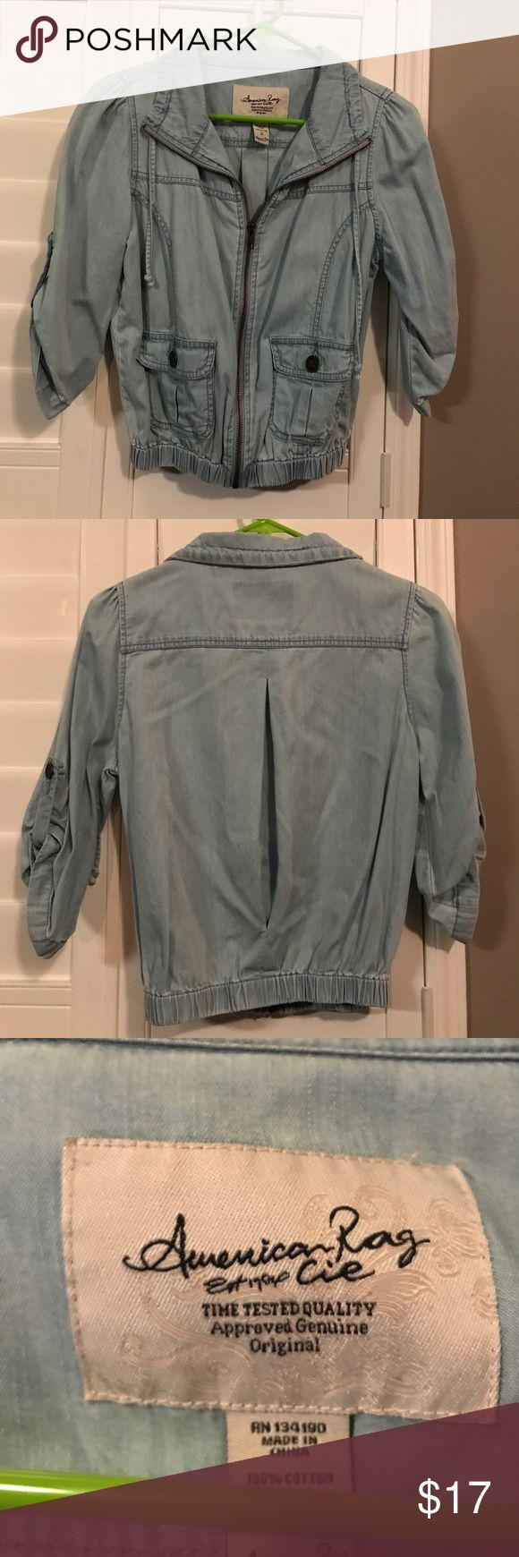 American rag- Jean jacket Thin jacket American Rag Jackets & Coats Jean Jackets