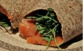Smoked Salmon Wrap: a rich source of omega 3 fatty acids as well as ...