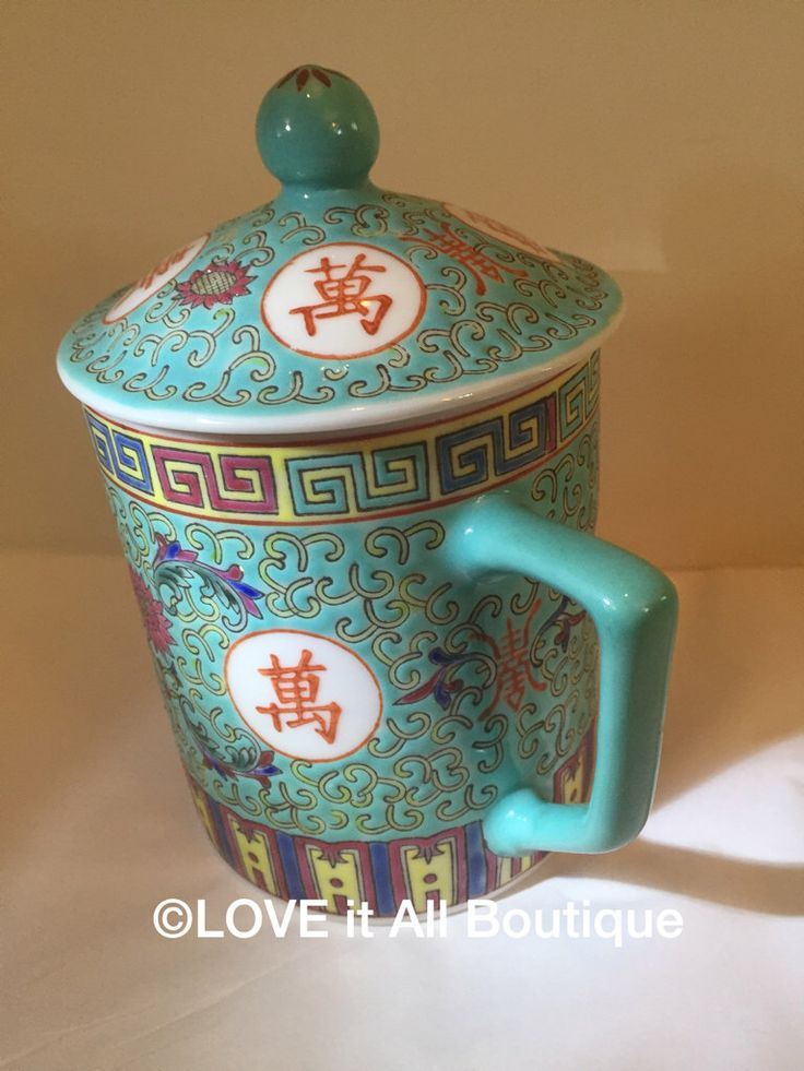 A personal favorite from my Etsy shop https://www.etsy.com/listing/262747886/teal-ceramic-mug-with-lid-made-in-china