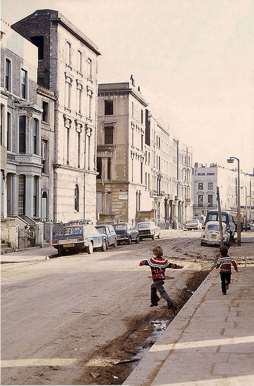 Slum days of Notting Hill. Quite a change from the upscale district it has become today.
