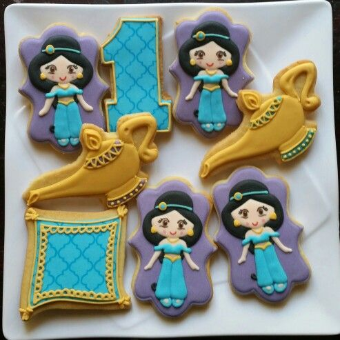 Princess Jasmine Cookies Fancy Cookies By Me Pinterest
