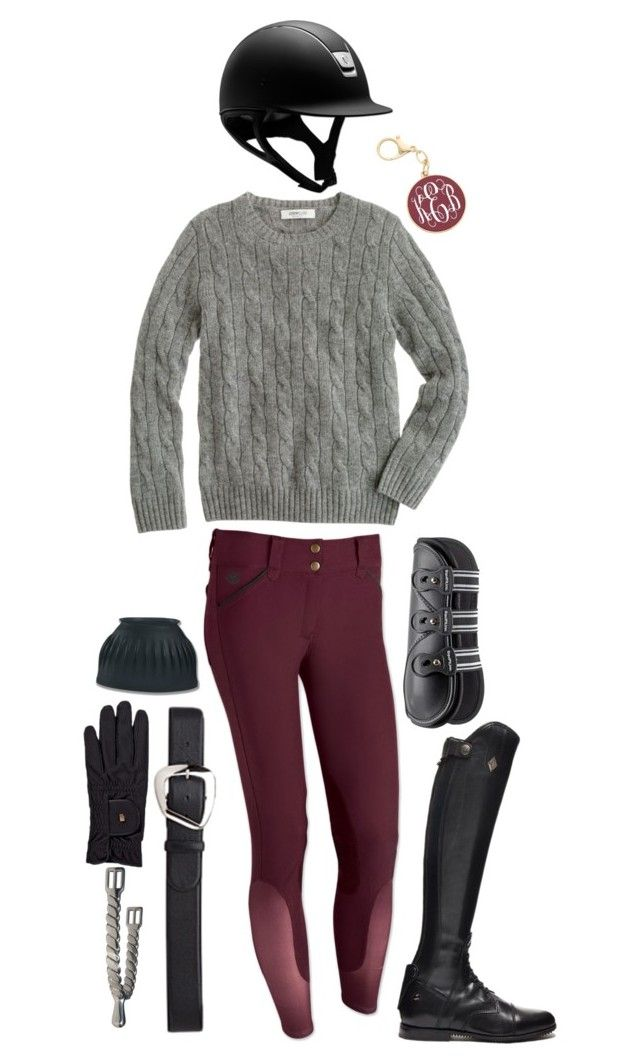 """maroon and black rootd"" by a-circuit-equestrian on Polyvore featuring J.Crew, Roeckl and rootd"