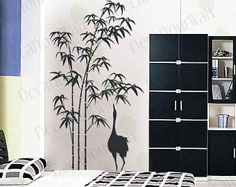 Bamboo Wall Decal Bedroom Living Room Large Tree By Decalyourwall