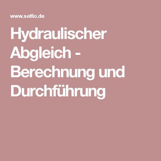 Great Hydraulischer Abgleich   Berechnung Und Durchführung