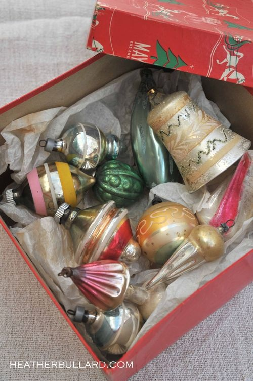 love collecting vintage ornaments