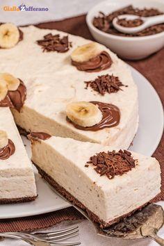 #CHEESECAKE BANANE e #CIOCCOLATO (chocolate banana cheesecake), una dolce coccola per ogni momento della giornata! #ricetta #GialloZafferano