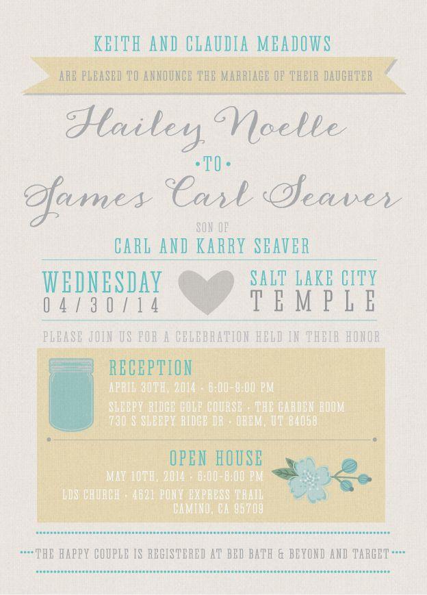 60 best Wedding Invitation Typography images on Pinterest ...