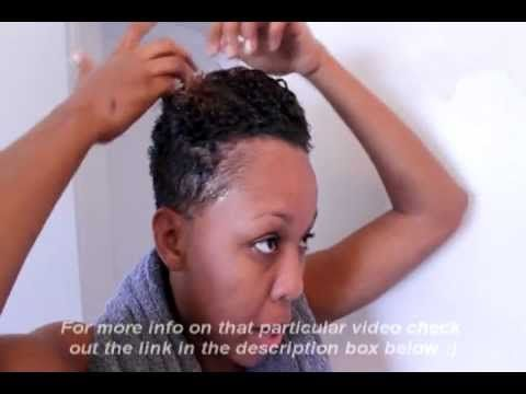 Styling My Natural Hair (Tips for styling a tapered TWA) - YouTube