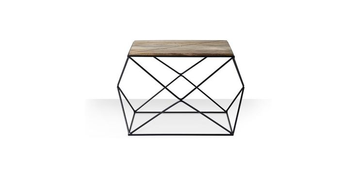 Swoon Editions Coffee table, contemporary-style in mango wood and iron - £149