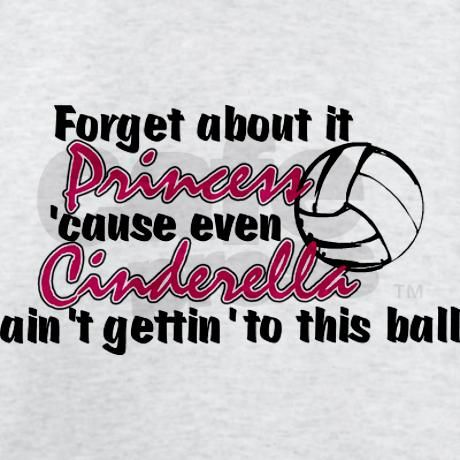 Got a Volleyball Princess in the family? She'll love this T-Shirt.