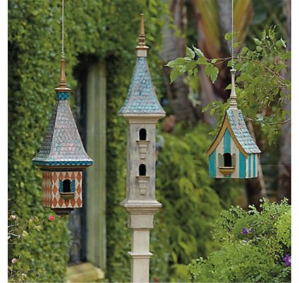 Victorian+cottage+birdhouses | eclectic birdhouses by FRONTGATE