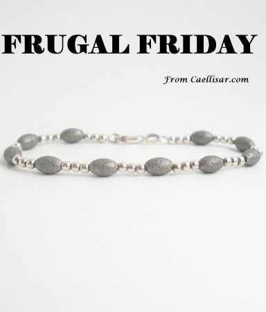 * Frugal Friday.  Get this  Sterling Silver Beaded Bracelet In Dark Grey at 61% off at http://caellisar.com/shop/bracelets/sterling-silver-beaded-bracelet-in-dark-grey.
