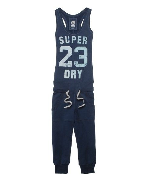 £54.99 Women's Superdry Charge jumpsuit in sweatshirt material