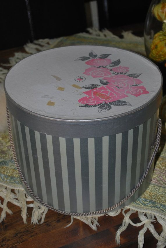 Vintage Hat Box by csandate on Etsy, $18.00