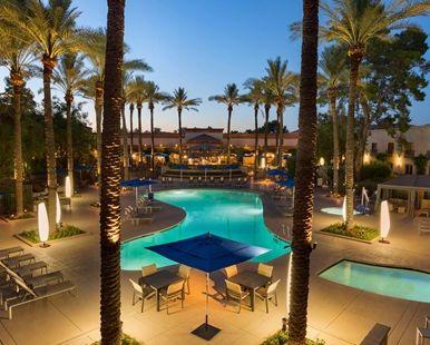 Hilton Scottsdale Resort & Villas, AZ Hotel - Pool Night  | AZ 85250