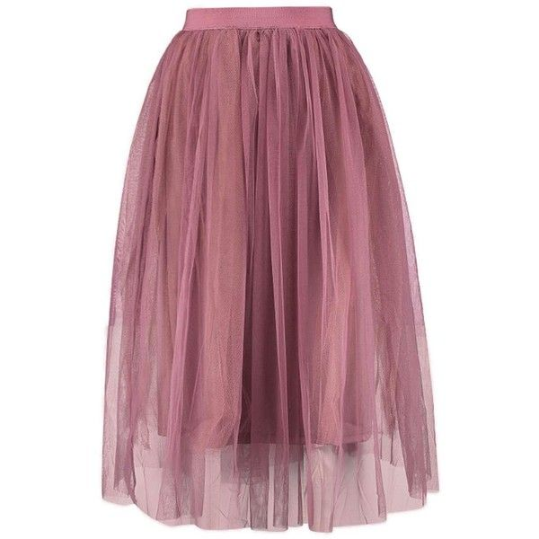 Boutique Aya Tulle Full Midi Skirt ($2.16) ❤ liked on Polyvore featuring skirts, midi skirt, knee length tulle skirt, purple skirt, calf length skirts and tulle skirt
