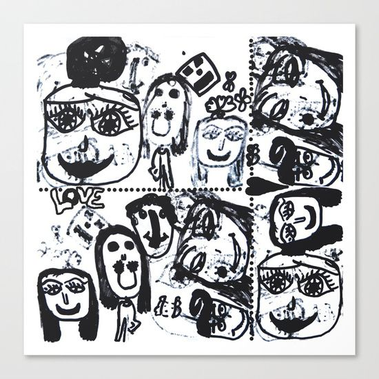 #wow #omg 25% OFF EVERYTHING TODAY!  #popart #funky #colorful #blackandwhite #kids #painting #funny #azima #colors #yoga #halloween #halloweencollection #pineapple #anana https://society6.com/product/funny-face-pop-art-black-and-white_stretched-canvas#s6-7259026p16a6v28