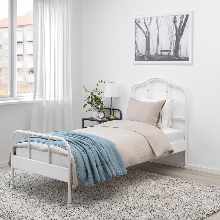 SAGSTUA Bed frame, white, Luröy, Twin IKEA in 2020