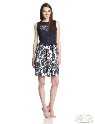 Jessica Simpson Women's Sleeveless-Fit and-Flare Lace Dress
