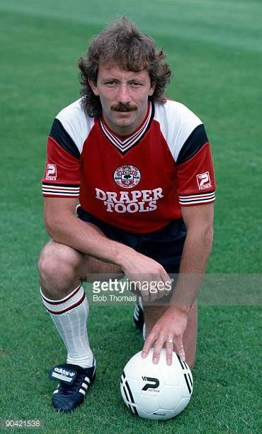 Jimmy Case of Southampton during the team's photocall at The Dell in July 1985