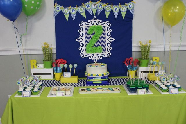 Royce's Stylish Super Why 2nd Birthday Party! Super Why Birthday Party