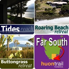 Beach house or eco accommodation in Tasmania's Far South