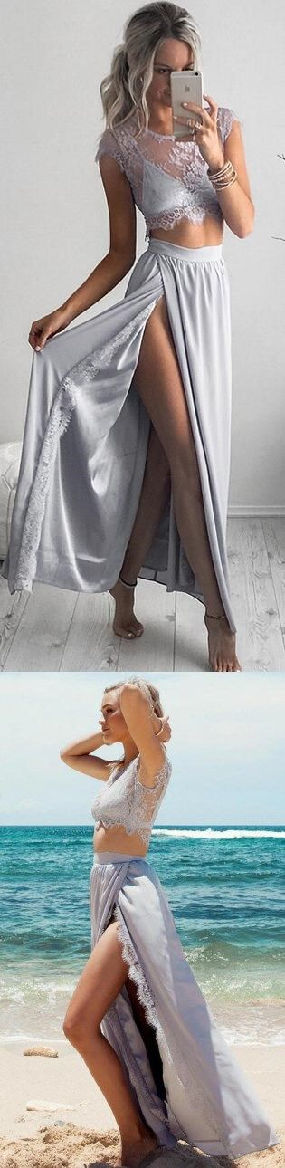 2017 Long Prom Dress, Long Prom Dress, 2 Piece Prom Gown,Two Piece Prom Dresses,Prom Dresses,New Style Prom Gown,