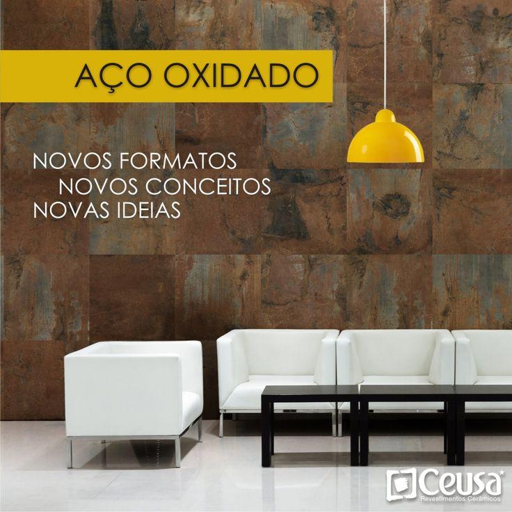 Produtos - Ceusa Revestimentos Cerâmicos - Linha Decorative - Aço Oxidado