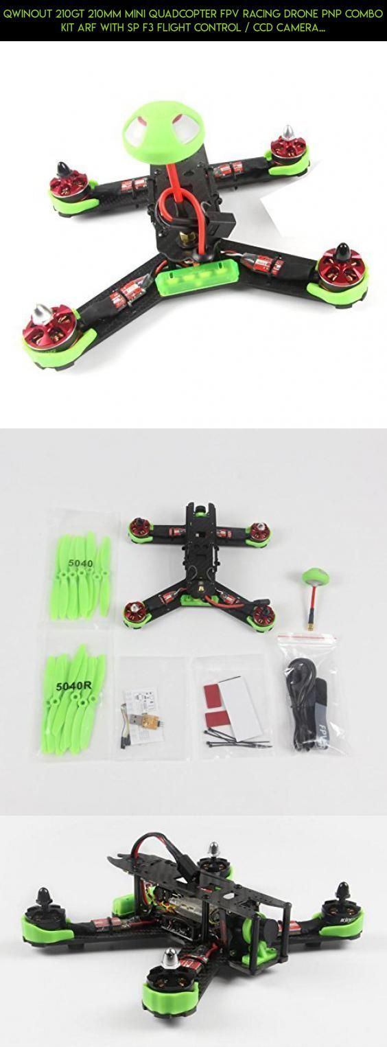 Qwinout 210GT 210mm Mini Quadcopter FPV Racing Drone PNP Combo Kit ARF with SP F3 Flight Control / CCD Camera /Mushroom Antenna /400mW VTX ( No Battery & Remote Controller) - Green #shopping #products #plans #drone #gadgets #racing #tech #camera #fpv #parts #210gt #drone #kit #technology #kingkong #racing