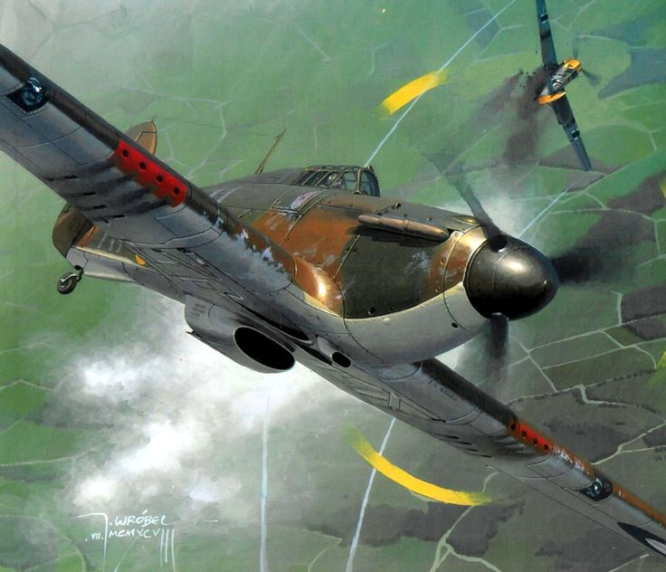 Polish Battle of Britain Hurricane Mk I, by Jarosław Wróbel