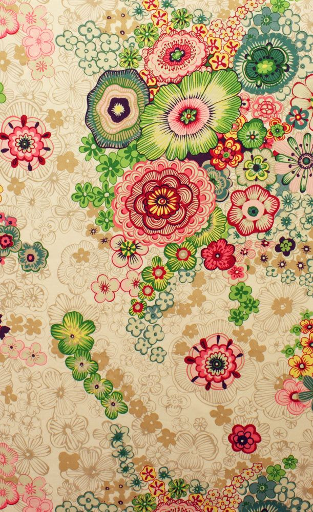 Stylised floral print - Fulham Road from Alexander Henry Fabrics