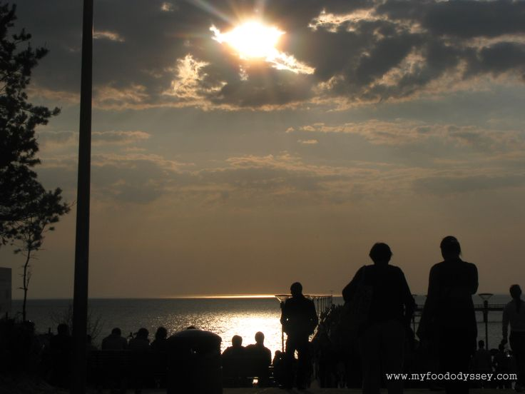 Sunset in Palanga, Lithuania | www.myfoododyssey.com