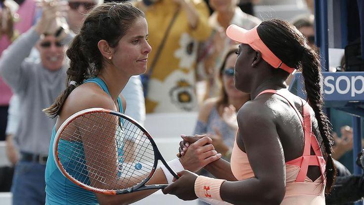 Die Weltranglisten-33. Julia Görges scheidet bei den US Open im Achtelfinale gegen Sloane Stephens aus den USA mit 3:6, 6:3, 1:6.
