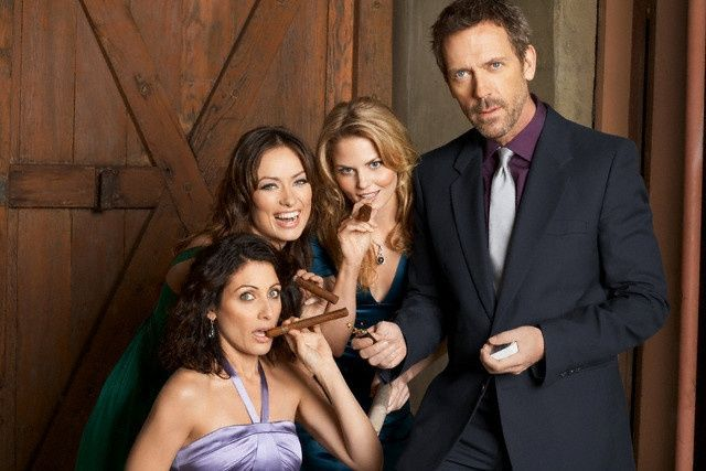 "Greg House and the women of House MD; Lisa Cuddy, Dr. Remy ""Thirteen"" Hadley and Dr. Allison Cameron."